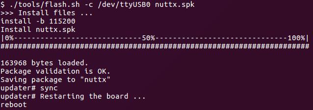 tutorial nuttx image load