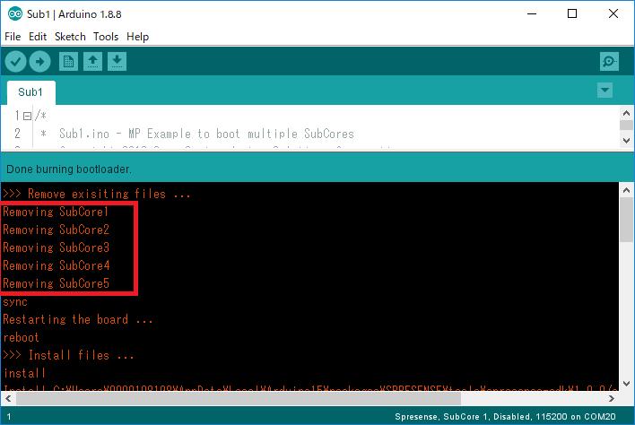 arduino multicore remove subcore