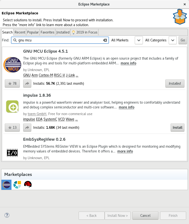Install GNU MCU plugin