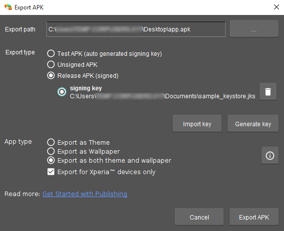 Signed Theme APKs - Theme Creator - Sony Developer World